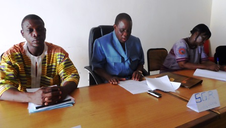 SAM_140 : M. N.Antoine Ouédraogo, secrétaire général de la région du Centre-Nord a invité les acteurs à redoubler d'ardeur pour inverser la tendance de la situation des personnes handicapées dans la région.