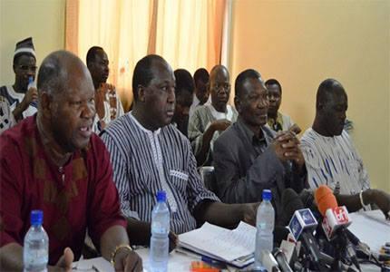 l'opposition politique en réunion sur les points suivants: audience chez le Président, renouvellement de la CENI et Koglowéogo