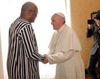 Le président du Faso, reçu par Sa Saintété le Pape.