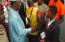 Salon international de l'étudiant africainau Tchad: Le président Idriss Déby a visité le stand de OTC.