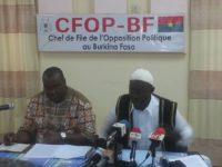 Situation sécuritaire au Burkina Faso : le CFOP se prononce